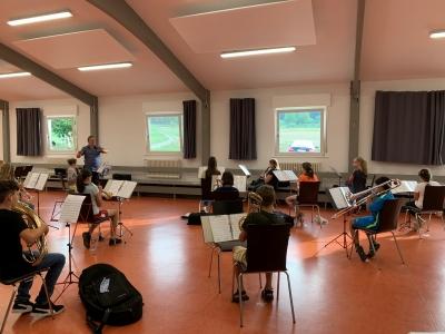 1. Probe des Schülerorchesters nach der Corona-Zwangspause