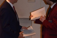 Übergabe einer Spende der Stadt Mühlacker durch OB Frank Schneider an den Musikverein